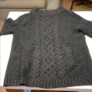 JCrew wool & cashmere sweater in dark charcoal